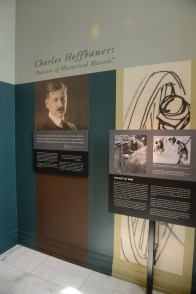 "Charles Hoffbauer: Painter of Historical Murals"" exhibition in the William Goode Beville and Charlotte Beville Hale Gallery."