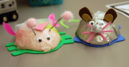 Stories at the Museum Crafts - mouse and cockroach