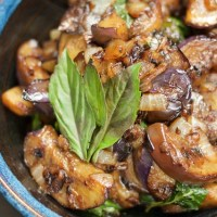 Spicy Thai Eggplant and Basil