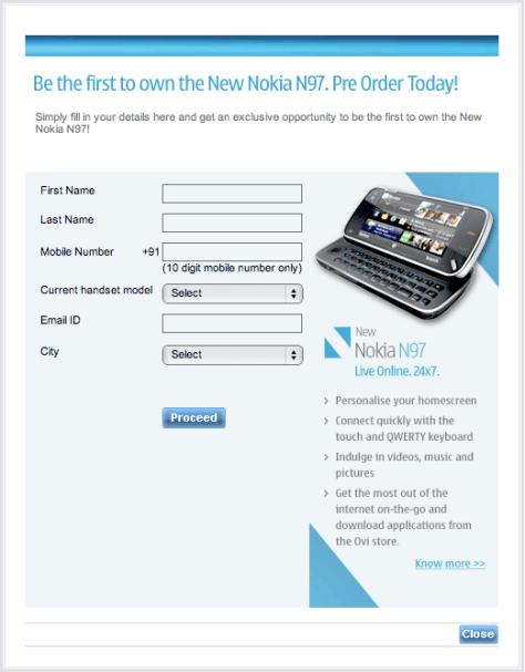 Nokia N97 PreBooking