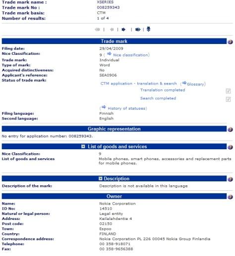 Nokia Xseries