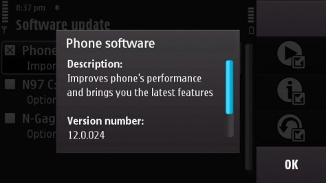 New Nokia N97 Firmware v12.0.024 Now Available