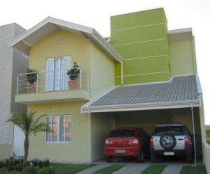 casas fachadas simples sobrados casa modelos bonitas fachada pintadas amarelo frentes projetos amarela frente modernas google bem maneiras decorar dicas