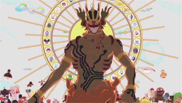 Le sexy Love Machine, au design très inspiré. Il est moins terrifiant que Diaboromon mais est tout aussi redoutable dans sa manière d'être imprévisible.