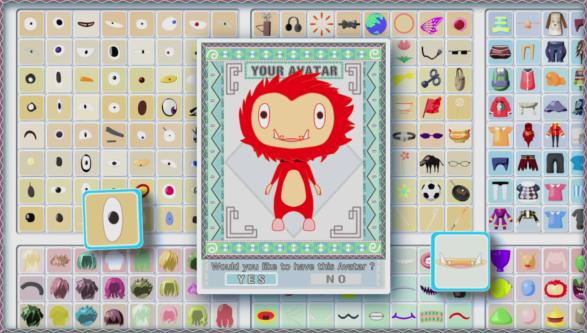 Summer Wars - L'interface de création de personnage d'Oz