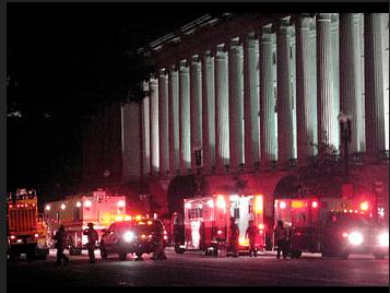 Fire Trucks from Transformer Explosion