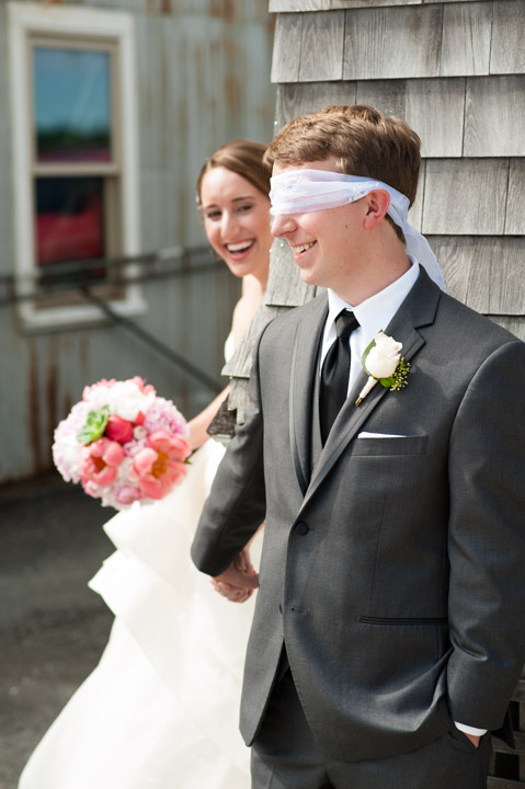 Proper use of Pinterest for Weddings: PINspiration not Imitation -- You need a spot where the light is the same on both subjects for this shot to work. Lauren and Erikk's wedding at the Duxbury Bay Maritime School