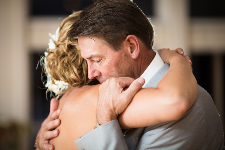 Proper use of Pinterest for Weddings: PINspiration not Imitation - Emotional shot of father daughter dance at her wedding. Image by Vail Fucci