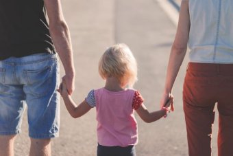 Child bonded with parents