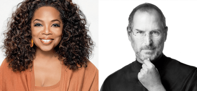 Oprah Winfrey and Steve Jobs came from humble beginnings