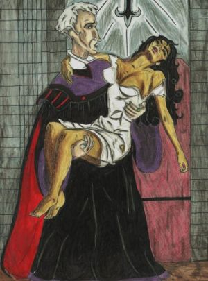 Frollo and Esmeralda