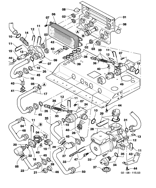 Boiler Parts: Vaillant Boiler Parts Diagram