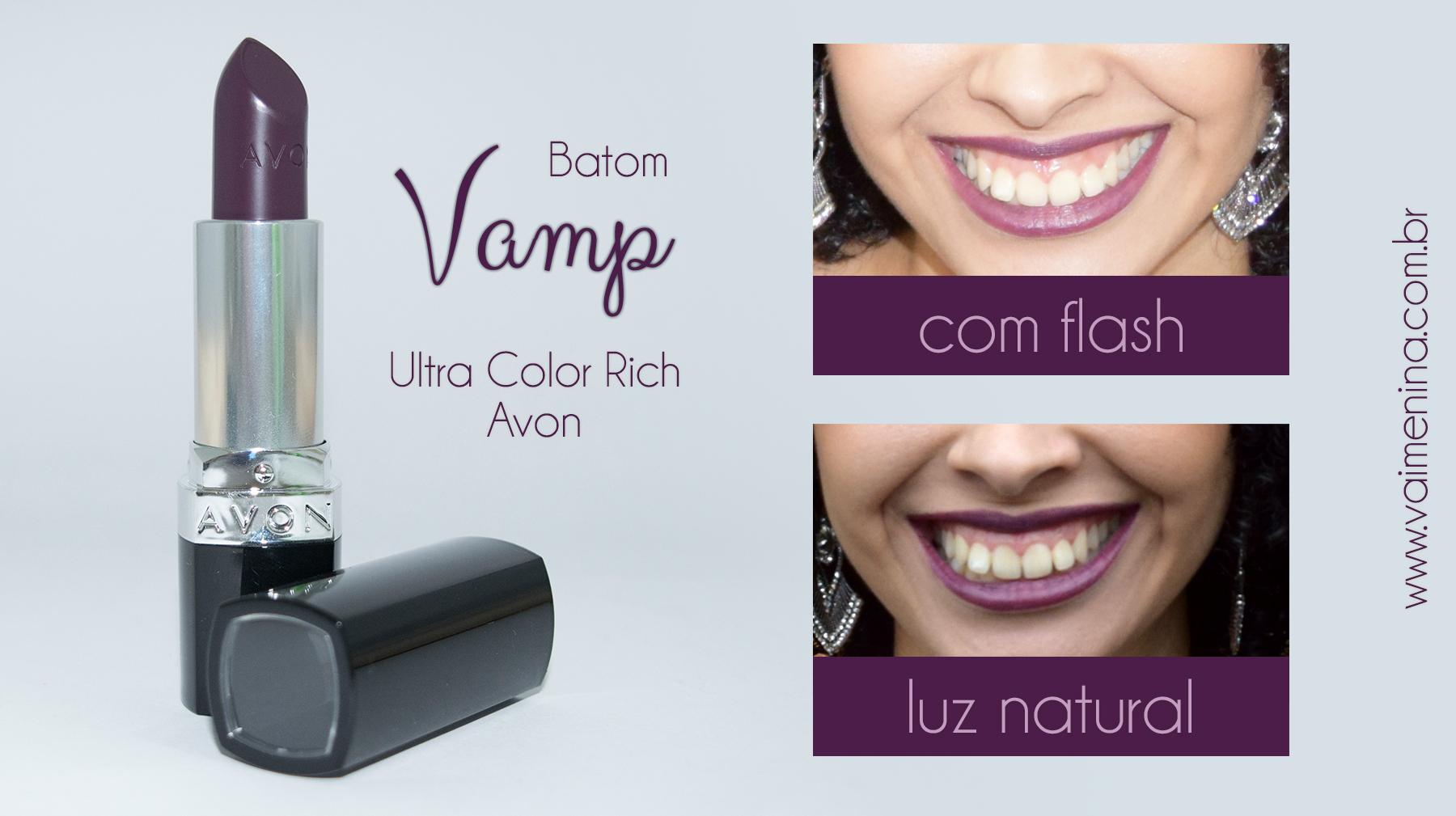 Resenha-batom-Vamp-da-Avon-com-flash-luz-natural-comparação