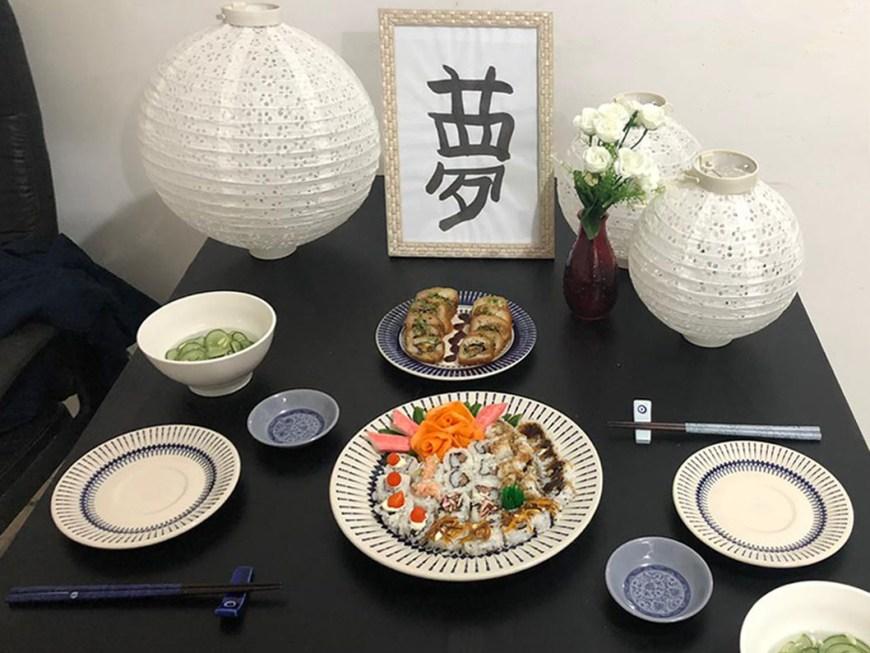 Jantar Romântico em Casa - Comida Japonesa