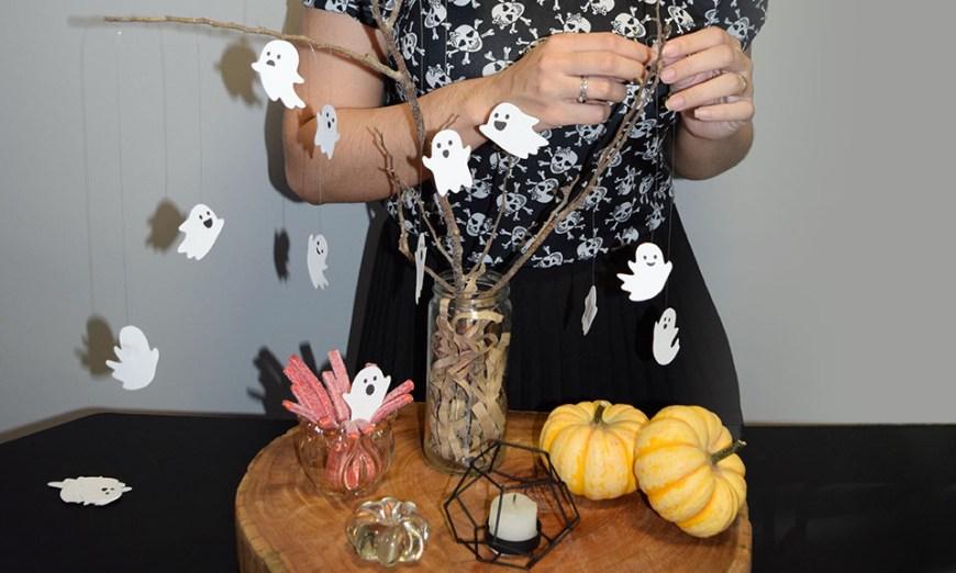 Halloween Minimalista - Decoração Simples com Galhos