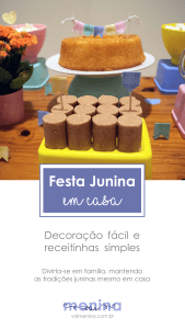 Festa Junina em casa - Decorações Pinterest
