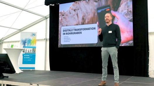 Unser Geschäftsführer Max Erdmann referiert auf der 18. Würzburger Kunststoffrohr-Tagung über die Digitalisierung des Baugrabens