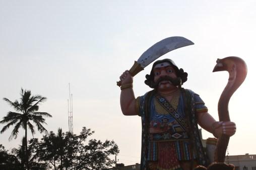 The fierce Mahishasura!