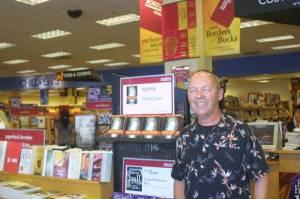 Author Phillip Jones at Borders Bookstore in Hilo, HI