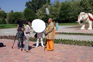 The Hungarian National Television interviews Sivarama Swami