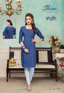 shine-vol.-2-denim-fabric-stylish-party-wea-casual-kurtis-wholesalers-manufacturers-5