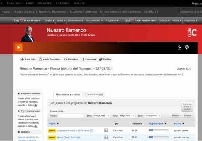 Entrevista en 'Nuestro Flamenco' de Radio Clásica RNE