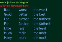Comparative adjectives basic rules (in English)