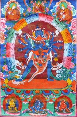 Современная тханка Чакрасамвары