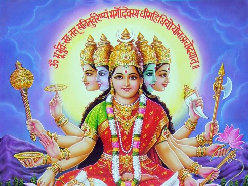 Gayatri-Mata-With-Gayatri-Mantra-Wallpaper