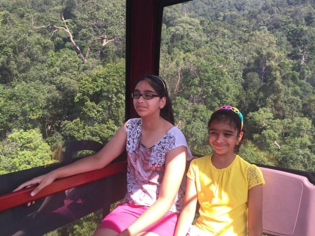 Trek to waterfall in Cable car