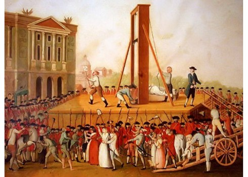 Marie Antoinette's execution in 1793 at the Place de la Révolution.