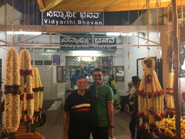 Garland shops near Vidyarthi Bhavan