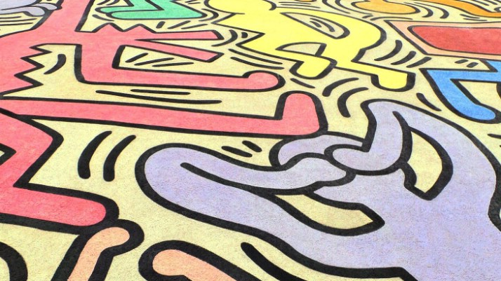 Keith Haring, Street Art, Pisa, Tutto Mondo, city walk