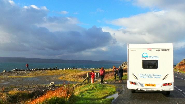 camper, rondreis, Schotland