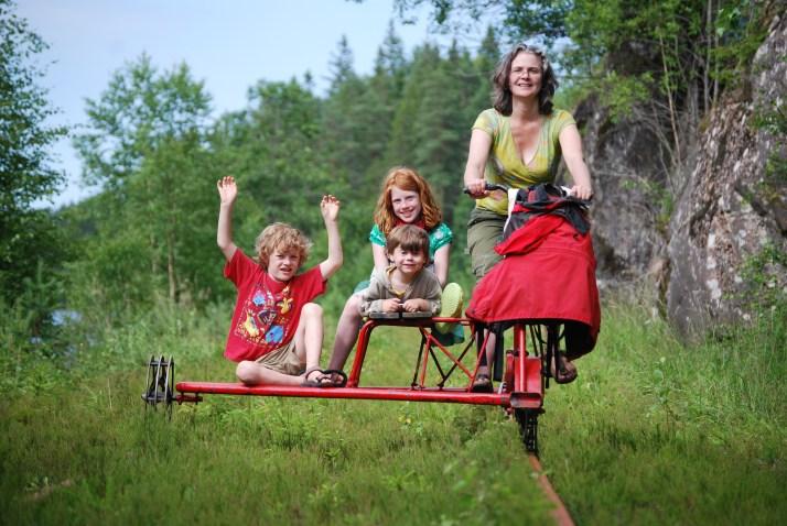 railbike, Zweden, treinfiets, vakantaseren