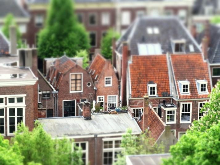 Vakantaseren, Pieterskerk Leiden, tiltshift
