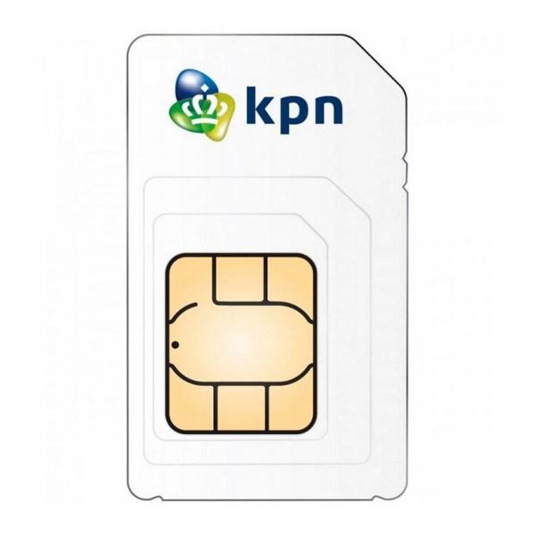 KPN SIM-kaart prepaid 10,- en Onbeperkt Online simkaart