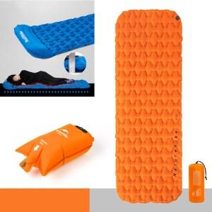 Naturehike Ultralight Opblaasbare Kussen Outdoor Tent Slaappad Portable Camping Single Lunch Break Air Bed verdikt vochtbestendig kussen stijl: Singl