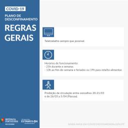 Versoepelingen corona maatregelen Portugal - algemene regels