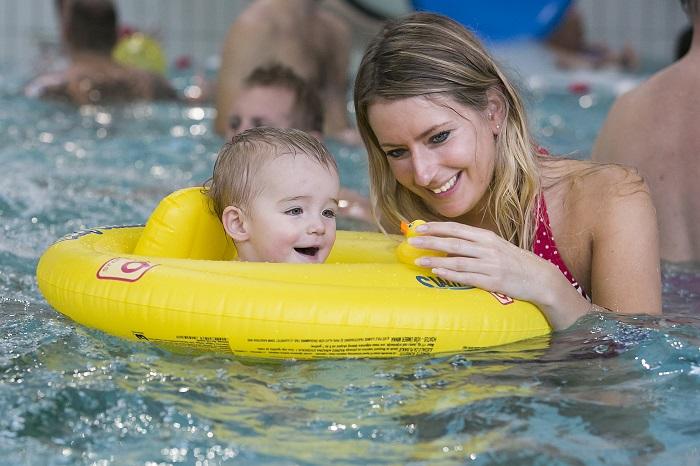 Zwemmen in het binnenzwembad
