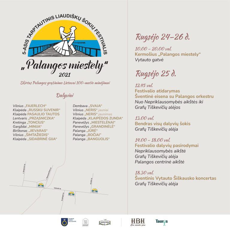 """Liaudiškų šokių festivalis """"Palangos miestely"""", 09 / 24 – 26"""