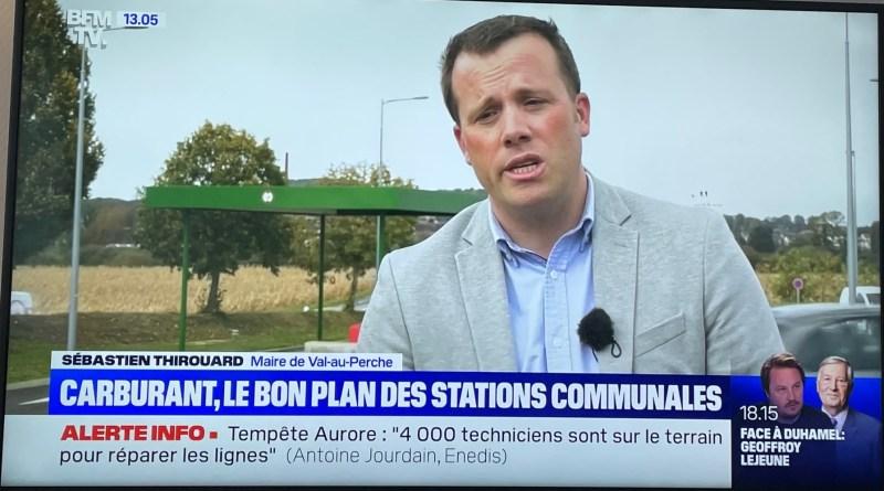 La station-service de Val-au-Perche à la télé !