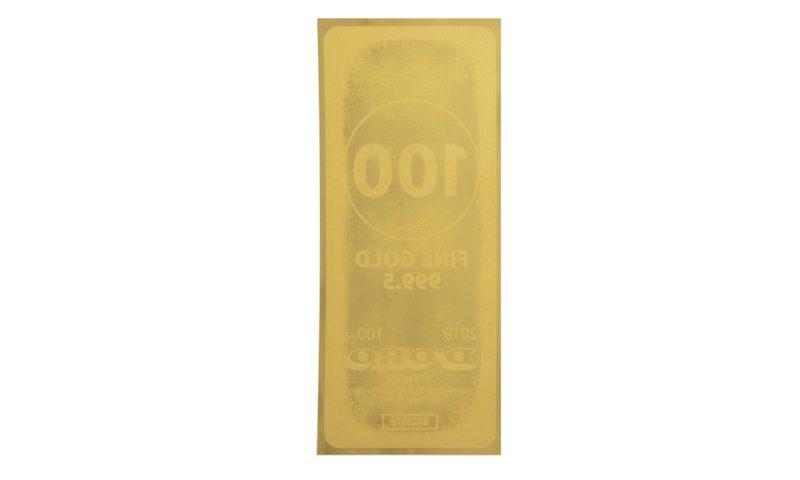 Reverse image of the Gold Bar Aurum - Valaurum, Inc.