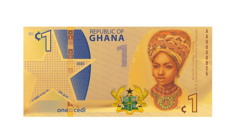Republic of Ghana 1 Cedi Aurum® - Valaurum, Inc.