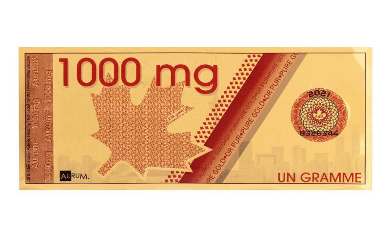 1000mg Canadian Maple Leaf Aurum® - Valaurum, Inc.