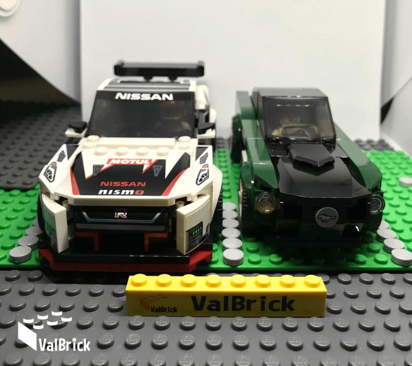 Lego® 76896 Nissan GT-R Nismo vs Custom Lego® 75884 Ford Mustang Fastback de 1968