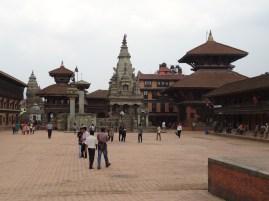 Durbar Square der mittelalterlich anmutenden Stadt ('lebendes Geschichtsmuseum') Bhaktapur im Kathmandutal