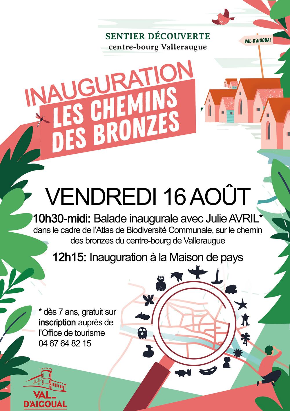 Inauguration 'Les chemins des bronzes' vendredi 16 août 2019 à 10h30