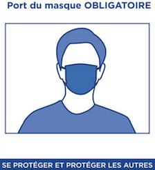 Masque obligatoire dans les lieux publics clos