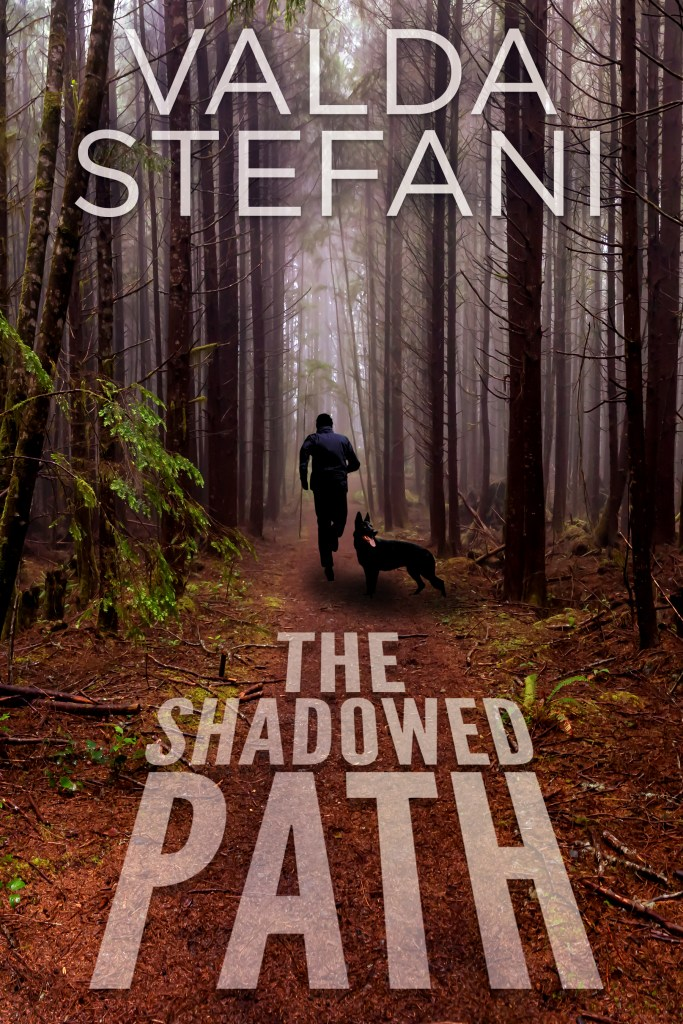 Book cover for The Shadowed Path by Valda Stefani